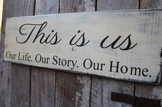 This sign measures tall x 30 inches long with notch in back for hanging. A perfect Statement size, this sign is perfect for topping a family wall of photos, perfect for blended families, a great house warming gift too. Rustic Wood Signs, Wooden Signs, Primitive Wood Signs, Rustic Decor, D House, Family Wall, Pallet Signs, Diy Signs, Camp Signs
