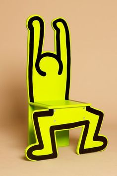 keith haring chair - green
