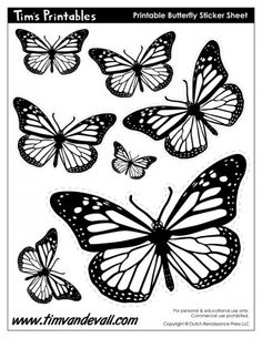 37 Best Printable Sticker Sheets in Black & White images