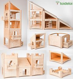 Stackable Dolls House FULLY COLLAPSIBLE AND A LITTLE PRICEY