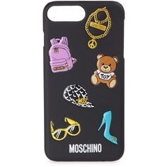 Moschino Moschino Patch Iphone Case (2.935 RUB) ❤ liked on Polyvore featuring accessories, tech accessories, phone case, multicolor, iphone sleeve case, iphone cases, moschino, apple iphone case and iphone cover case