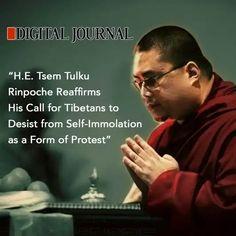 Digital Journal Publishes Tsem Rinpoche's Advice Against Self Immolation