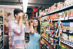 Fun at the supermarket! Photography by Jonah Sun, principal photographer of All Aflutter