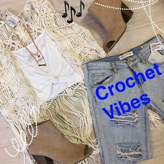 Music festival vibes are off the charts! It's never too early to get your outfit ready! Our Lincoln Park location has so many crochet tops and distressed jeans to make you the best dressed at every festival!