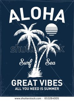 Hawaii Aloha vector illustration for t-shirt and other uses.