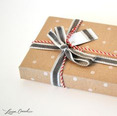 butcher paper and baker'€™s twine is one of the best gift wrap combos. Ribbon and twine together. Merry Little Christmas, Holiday Fun, Winter Christmas, Holiday Gifts, Christmas Gifts, Christmas Time, Festive, Christmas Decorations, Craft Gifts