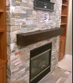 Barn beam mantle sawn reclaimed wood unfinished Rustic Warmth Fireplace Redo, Fireplace Remodel, Fireplace Mantles, Fireplace Ideas, Rock Fireplaces, Rustic Fireplaces, Maine House, My House, Vinal Plank Flooring