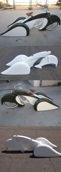 bicycles: Custom Fiberglass Bicycle Body Kit Trike Lowrider Adult Size Cruiser Metermaid -> BUY IT NOW ONLY: $799.99 on eBay!