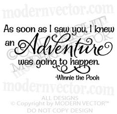 WINNIE THE POOH Vinyl Wall Quote Decal Adventure by ModernVector, $19.44