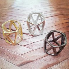TRIANGLE BAND... These rings are available in silver, gold and gunmetal. www.fabfrosting.com #putaringonit