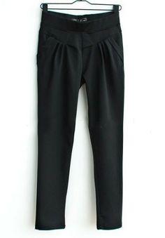 Pantalón bolsillos-Negro EUR23.81