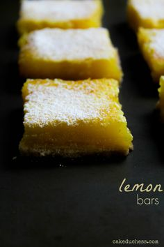 lemon bars | cakeduchess