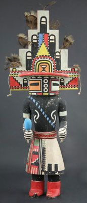 Hopi Navajo kachina made in the In Hopi it is known by the name Teuk or Tasap Hopi Indians, Cowboys And Indians, Native American Tribes, Native American History, Native Americans, Arte Haida, Art Chinois, Art Premier, Indian Dolls