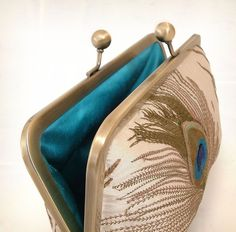 silk peacock feathers  luxury clutch bag by redrubyrose on Etsy, $105.00