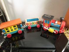 FISHER PRICE - Vintage Little People - Toy Circus Train Lot 999