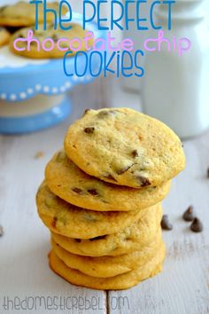 The PERFECT Chocolate Chip Cookies -- soft, chewy, buttery and fool-proof!  You'll never use another recipe again!
