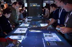 Kodak Interactive Exhibit by Sarah Morehouse, via Behance - interactive touch screen table with info!! Neat!!