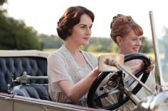 Mary driving Lavinia, Downtown Abbey   ..rh