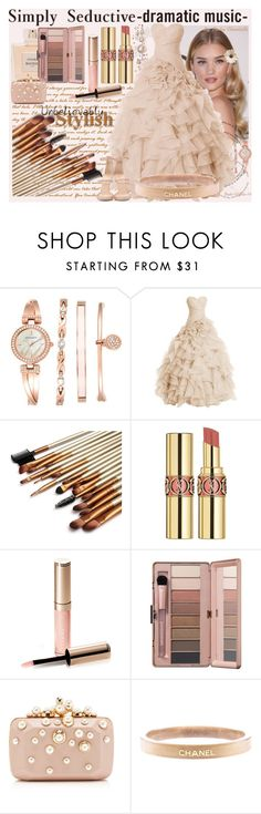 """""""Dresstells Long Prom Dress Sweetheart Wedding Bridal Gown Organza Ball Gown"""" by pinky-chocolatte ❤ liked on Polyvore featuring Whiteley, Anne Klein, Balmain, Yves Saint Laurent, By Terry, Elie Saab, Chanel and Giuseppe Zanotti"""