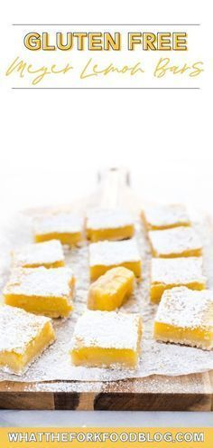 This easy recipe for Gluten Free Lemon Bars is one you have to try! They're tangy, sweet, and have a crisp shortbread crust. They're simply irresistible! This old fashioned sweet treat is sure to hit the spot. They are so soft and filled with a delicious sweet and sour flavor, you'll hardly believe that they are also gluten free! These are perfect for any get together or party. Make these and you'll be everyone's favorite person!