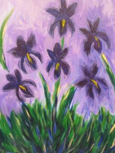 I am going to paint Monet's Lilac Irises at Pinot's Palette - Ellicott City to discover my inner artist!