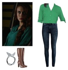 """Lydia Martin - tw / teen wolf"" by shadyannon ❤ liked on Polyvore featuring Pull&Bear"