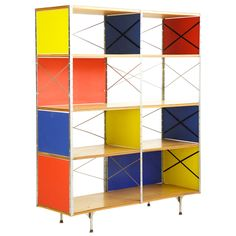Eames Storage Unit | From a unique collection of antique and modern bookcases at http://www.1stdibs.com/furniture/storage-case-pieces/bookcases/