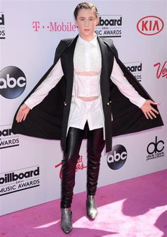 This strange cut-out shirt isn't even what did in social media star Trevor Moran's look. It was the bizarre cape that Trevor wore to the Billboard Music Awards in Las Vegas on May 22, 2016, that really got us. Fashion Hits and Misses for May 2016