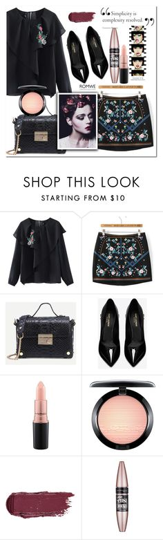 """""""Romwe 4"""" by e-mina-87 ❤ liked on Polyvore featuring Yves Saint Laurent, Anja, MAC Cosmetics and Maybelline"""