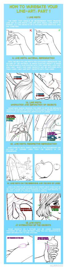 How to variegate your line-art: part 1 by murr000.deviantart.com on @deviantART