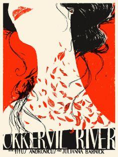 Okkervil River - gig poster - Leslie Herman