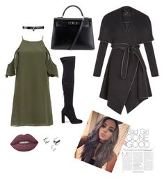 """""""Untitled #4"""" by husic ❤ liked on Polyvore featuring DailyLook, Steve Madden, Hermès, BCBGeneration, Fallon and Lime Crime"""