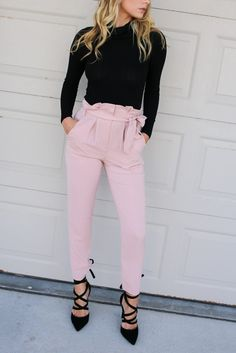 Salmon Pants with Belt Material is Polyester Button Zipper Front Has Pockets No Lining Model Ali is 5'8 and is Wearing a Small Width Length In-Seam WaistBand Sm