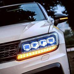 VOLKSWAGEN TIGUAN HEADLIGHTS 2017+ – Motowey Projector Lens, Bmw E60, Angel Eyes, Stay Cool, Led Headlights, Chevrolet Logo, Volkswagen, Color, Colour