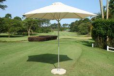 Paraflex with Roma Cover 2.7m Aliminium Umbrella with cement Base