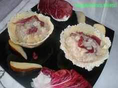 Risotto radicchio,pere e gorgonzola