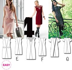 New BurdaEasy Pattern: Paneled Dresses! #BurdaStyle #BurdaEasy #sew #sewing #diy