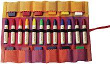 12 Stick/Block Crayon Roll Blue