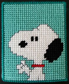Peanuts Plastic Canvas Tissue Box Snoopy by sanzosgal.deviantart.com on @DeviantArt