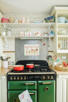 A Cottage Chic Cath Kidston Home - i LOVE this kitchen