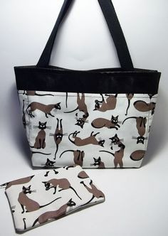 Small Tote Purse Black Faux Leather Tote Purse by AnaneADesigns, $24.95