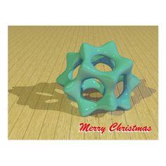 Christmas Green Star Postcard