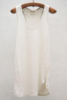 Grappa Tank Top — Blanc | $140