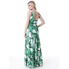 Além de garantir uma silhueta alongada, esse 'long dress' garante conforto e charme imediato, invista já! #reginasalomao #SS17 #TropicalVibesRS