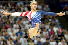 Aly Raisman on the Balance Beam