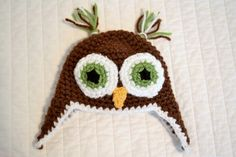 Andrea, from ATBaB, offers a tutorial for crocheted owl beanie