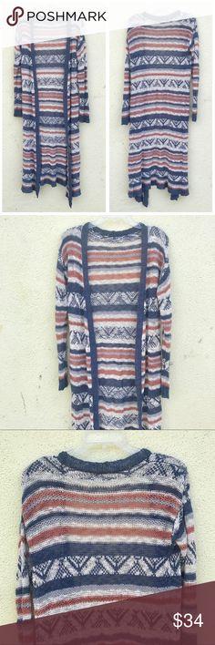 LONG MAXI CARDIGAN knit cardigan sweater duster Long knit maxi open cardigan  duster sweater. Off 86d2d4a49
