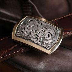 Halogen Swirl B - hand engraved halogen style buckle with wide border edge and hand cut filigree scrolls. Metal Engraving, Blacksmithing, Belt Buckles, Filigree, Jay, Belts, Scotland, Luxury, Creative
