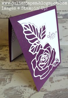 Julie Kettlewell - Stampin Up UK Independent Demonstrator - Order products 24/7: Rose Wonder in Blackberry Bliss