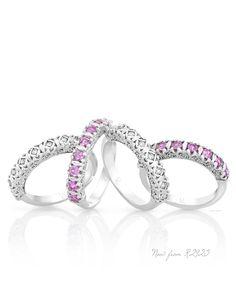 Jenna Clifford diamond and pink sapphire eternity rings - A true love symbol